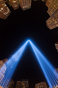 Commercial Building Posters - Tribute in Light XIV Poster by Clarence Holmes