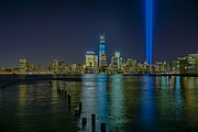 Never Forget Prints - Tribute In Lights Print by Susan Candelario