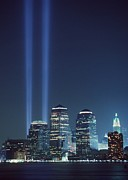 Skylines Art - Tribute Of Light Represents The Fallen by Everett