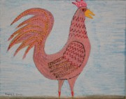 Barnyard Originals - Tribute to a mean Rooster by Gregory Davis
