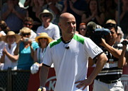 Slam Photo Prints - Tribute to Agassi Print by Anne Babineau
