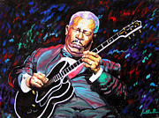 Jose Miguel Barrionuevo Metal Prints - Tribute to BB king Metal Print by Jose Miguel Barrionuevo