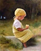 Farm Girl Prints - Tribute to Bouguereau  Print by Bob Nolin