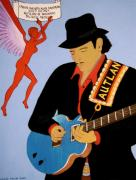 Carlos Santana Paintings - Tribute to Carlos by Stephanie Moore
