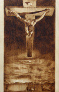 Christ Pyrography Prints - Tribute to Dali Print by Conrad  Pinto