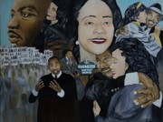 Black History Paintings - Tribute to Dr Martin Luther King Jr by Angelo Thomas