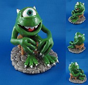 Cartoon Ceramics - Tribute to Mike Wazowski by Bob Dann