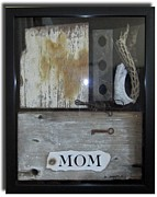 Wood Sculpture Posters - Tribute to Mom Poster by Snake Jagger
