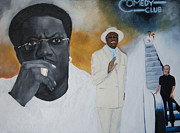 Escalator Painting Prints - Tribute to Mr. Bernie Mac Print by Chelle Brantley