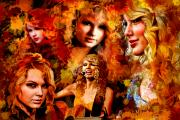 Taylor Swift Painting Framed Prints - Tribute to Taylor Swift Framed Print by Alex Martoni
