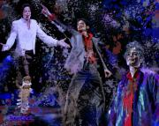 Michael Jackson Paintings - Tribute to the King of Pop by A Martoni