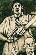 Serial Drawings Framed Prints - Tribute to the Texas Chainsaw Massacre Framed Print by Sam Hane