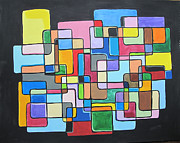 Rectangles Paintings - Tribute to TootTie by Tracy Kincaid