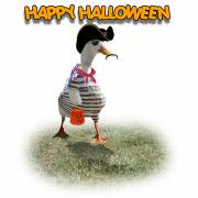 Creepy Mixed Media - Trick or Treat for Capn Duck by Gravityx Designs