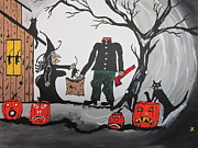 Halloween Paintings - Trick Or Treat. by Jeffrey Koss