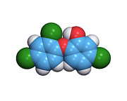 Spectrum Framed Prints - Triclosan Antibiotic Drug Molecule Framed Print by Dr Tim Evans