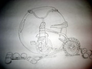 Tricycle Drawings - Tricycle by Carol Steinhauer