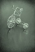 Tricycle Framed Prints - Tricycle in Green Framed Print by Sophie Vigneault