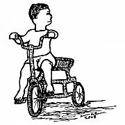 Wheel Drawings Prints - Tricycle Print by Karl Addison