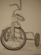 Tricycle Drawings - Tricycle by Meg Goff