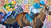 Kentucky Derby Painting Originals - Trifecta by Michael Lee