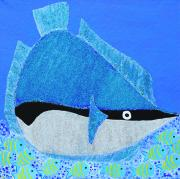 Caribbean Sea Mixed Media - Trigger Fish by Sula Chance