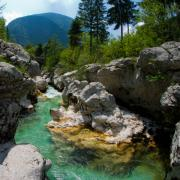 Whitewater Prints - Triglav National Park Slovenia Print by Peter Verdnik