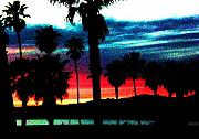 Beach Sunsets Prints - Trilight in Venice  Print by Daniele Smith