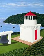 Realism Posters - Trinidad Head Lighthouse Poster by Frederic Kohli