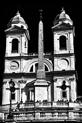 Monotone Prints - Trinita Church Print by John Rizzuto