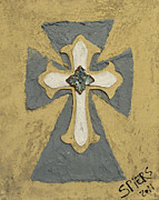 Religious Art Sculpture Metal Prints - Trinity Metal Print by Amanda  Sanford