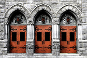 Medieval Entrance Digital Art Posters - Trinity Doorway Poster by Aaron Hernandez