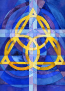 Holy Spirit Painting Prints - Trinity Print by Mark Jennings