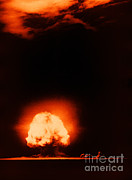 Alamos Photo Posters - Trinity Test Explosion, 1945 Poster by Los Alamos National Laboratory