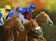 Jockey Paintings - Trio by Jana Goode