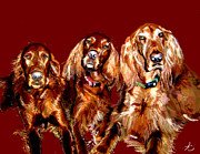Pets Digital Art Originals - Trio by Justine Plaza