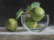 Stem Painting Prints - Trio of Pears Print by Anna Bain