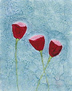 Kpappert Posters - Trio of Tulips Poster by Karen Pappert