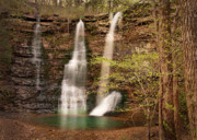 Triple Falls Landscape Print by Tamyra Ayles