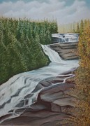 Dupont Pastels - Triple Falls by Stacy Bottoms