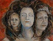 Crone Goddess Metal Prints - Triple Goddess Metal Print by Maureen A Girard
