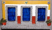 Robert Handler Art - Triple Mexican Blue Doors by Robert Handler