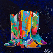 Cowgirl Boots Posters - Triple Threat Poster by Tracy Miller