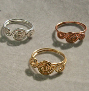 Custom Ring Jewelry - Triple Whorl Ring by Heather Jordan