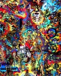 Psychedelic Drawings Framed Prints - Tripped Out Framed Print by John Benko