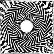 Trippy Mixed Media Posters - Trippy Optical Illusion Swirly Maze  Poster by Yonatan Frimer Maze Artist