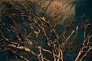 Trippy Digital Art - Trippy Tree by Linda Sannuti