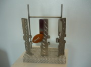 Sports Sculptures - Triptico Football by Luis  Matos Sanchez