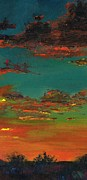 Sunsets Paintings - Triptych 3 by Frances Marino