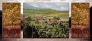Trittico-il Prossimo Autunno Print by Guido Borelli